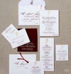 Deanna and Gavin Classic Wedding Invitations by Ceci New York