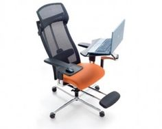 """The mPosition """"mobile workstation"""" makes it possible to work in a position physiologically best for the spine thanks to the numerous adjustable points. Users can modify their reclining position, ensuring proper form and healthy circulation make the de"""