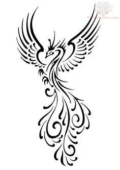 Feminine Phoenix Tattoo