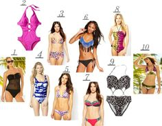 Tuesdays Top 10 Swimsuits! When was the last time you wore a swimsuit? Will 2014 be your year? #swimsuits #beachwear #top10 #asos #target #jcpenny #macys #frugalflirtynfab #miamifashionblogger #mommyblogger