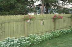 6' H x 8' W Dog-Eared AC2 Treated Fence Panel at Menards®