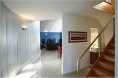 Realm Building Design Echuca - Francis Street Moama - entrance - curve - iron - lighting -
