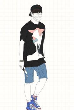 ⛈ Pinterest: @yosoylaprincesa ⛈ Cute Panda Wallpaper, Bts Wallpaper, Kpop Fanart, Virtual Boy, Panda Wallpapers, Bad Boy Aesthetic, Korean Babies, Outline Drawings, Bts Boys