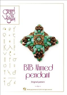 Pendant tutorial / pattern BTB Ahmed with by beadsbyvezsuzsi