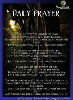 Daily Prayer ~ Regardless of one's specific spiritual path, it's good to meditate on the living world we're all a part of. Wiccan Witch, Wicca Witchcraft, Magick, Witch Rituals, Mantra, Practical Magic, Magic Spells, Easy Spells, Healing Spells