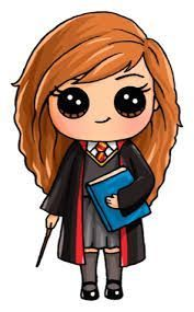 Harry Potter Hermione Draw So Cute Kawaii Girl Drawings, Cute Girl Drawing, Disney Drawings, Cartoon Drawings, Cute Drawings, Animal Drawings, Drawing Disney, Arte Do Harry Potter, Cute Harry Potter
