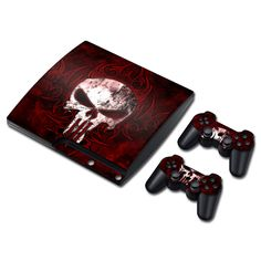 Stylish Looking Vinyl Sticker For PS3 Slim Console and Two Controller Decals #TN-P3Slim-0473 #Affiliate