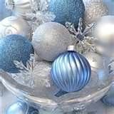 Winter Wedding Decorations -I have ton's of turquoise and silver Christmas balls and some huge silver balls we can use for centerpieces. (these are not my balls, mine are bright turquoise.)