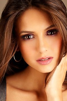 Nina Dobrev. Her makeup is georgous