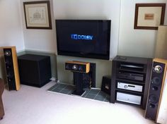 PB12-Plus subwoofer with Arcam components and KEF speakers.