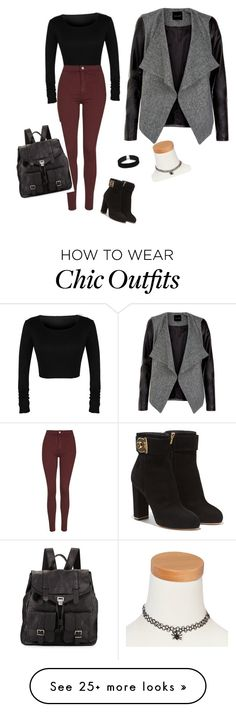 """Leather chic"" by badwolfgirl-3690 on Polyvore featuring Topshop, Salvatore Ferragamo, Proenza Schouler, ASOS and claire's"