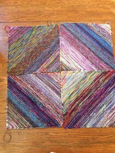 scrap sock yarn project. dicke decke/big afghan. pattern by Ulli Stuttgart. love this version by Robinfaure on ravlery.