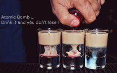 Επειδή ο barman έχει κέφια!! Καλό #Σαββατόβραδο..  #prigipos #shots #σφηνάκια #atomicbomb