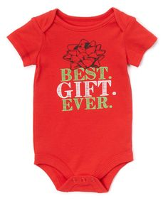 $6.99 marked down from $12! Red 'Best Gift Ever' Bodysuit - Infant #zulilyfinds