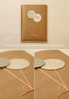Gorgeous DIY Birthday Gifts To Choose From DIY photography packaging // DVD cases // use kraft butcher paper! MoreDIY photography packaging // DVD cases // use kraft butcher paper! Creative Gift Wrapping, Creative Gifts, Wrapping Gifts, Gift Wrapping Ideas For Birthdays, Diy Birthday Wrapping Paper, Simple Gift Wrapping Ideas, Cheap Wrapping Paper, Wrapping Papers, Craft Gifts