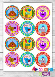 Hey Duggee Badges Cupcake Toppers 12 X 6cm A4 Icing Sheet