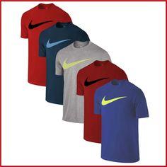 Nike T-Shirt Herren Shirt - Big Swoosh - Sport Fitness Shirts  Gr.  S - XXL  WoW
