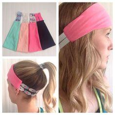headband hairstyles Pink Workout Headband - Yoga Headband by InADreamBoutique on Headband Hairstyles, Diy Hairstyles, Pretty Hairstyles, Diy Headband, Knitted Headband, Yoga Headband, Fabric Headband Tutorial, Homemade Headbands, Pink Workout
