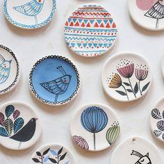 © 2013 Marina Marinski, All Rights Reserved Photo: Berislava Picek/ Cropix Painted Ceramic Plates, Hand Painted Ceramics, Ceramic Clay, Ceramic Painting, Ceramic Pottery, Pottery Art, Rock Painting, Pottery Painting Designs, Pottery Designs