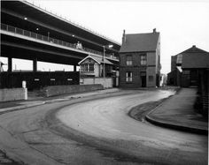 Tinsley Viaduct showing Tinsley Junction West Signal Box and Wincobank Rolling Mills entrance off Alsing Road.