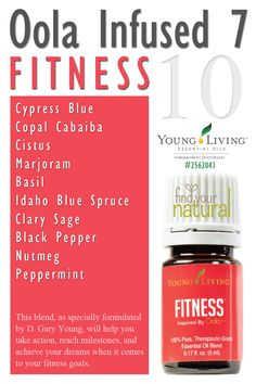 Young Living Essential Oils: Oola Infused 7 Kit - Fitness | Kim Ayres #1529959 | Email: klayres5@yahoo.com | Visit http://beta.youngliving.com to order!