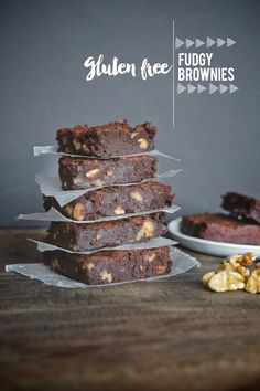 Deliciously Fudgy Brownies that happen to be Gluten Free