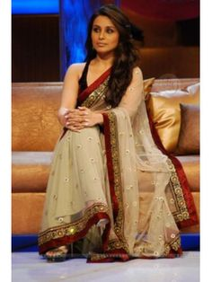Rani Mukherji Lift Karade Red Border Saree Check our New Bollywood collection, http://20offers.com/rani_mukherji_lift_karade_red_border_saree?search=rani#.Uzv4_KiSzxA , Available for shipping worldwide,  Buy Bollywood Sarees at lowest price in USA, CANADA, AUSTRALIA, NEW ZEALAND, SINGAPORE, MALYASIA ,UK, NETHERLANDS, FRANCE, JERMANY - Indian Clothing Online!