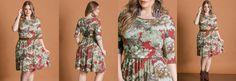 Vestido Acinturado Floral Plus Size
