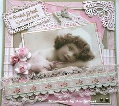 Scrapbook layout ~ 1 photo girl vintage