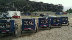 """Indy 500 """"Wake up with Rex"""" @LoneStarBikeCab"""