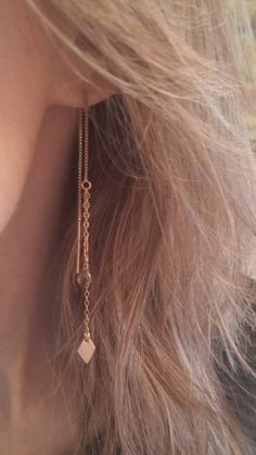 Threader earrings by BeyondBeautiful