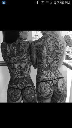 This is a serious dedication … - New Tattoo Models Hot Tattoos, Body Art Tattoos, Girl Tattoos, Sleeve Tattoos, Tattoos For Women, Hanya Tattoo, Inspiration Artistique, Piercing Tattoo, Skin Art