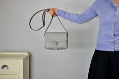 NEW Willow Small Leather Cross body Bag in Grey   NH
