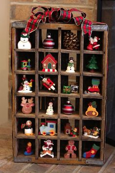 Display your ornament collection in a Coke or Dr. Pepper crate!