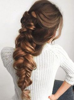 large braid + ponytail / #hairstyles #beauty