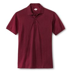 Dickies Young Men's Pique Polo Burgundy (Red) XL
