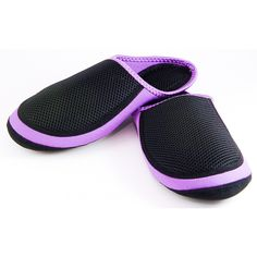 Ladies Mesh Slipper Purple Nufoot Cushie