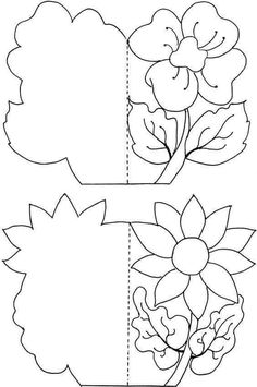 Resultado de imagen para mother day card for coloring Kirigami, Diy And Crafts, Crafts For Kids, Paper Crafts, Coloring Books, Coloring Pages, Shaped Cards, Mom Day, Mothers Day Crafts