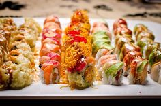 Great sushi rolls, Learn how to create stunning sushi dishes with the guidance of self-taught sushi chef, you want to see more sushi pics than follow me here: @makesushi1 #food #sushi Also check out these sushirecipes here:http://www.makesushi.com/sushi/
