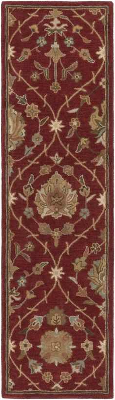 Middleton AWMD-2113 Red Traditional Premium Wool Rug