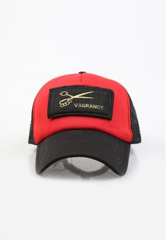 black and red patch cap #handmade #cap #patch #vagrancylifestyle