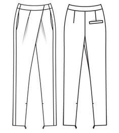 ideas for fashion illustration pants sewing patterns Croquis Fashion, Fashion Sketches, Burda Patterns, Easy Sewing Patterns, Fashion Artwork, Sewing Pants, Kids Fashion Photography, Technical Drawing, Pants Pattern