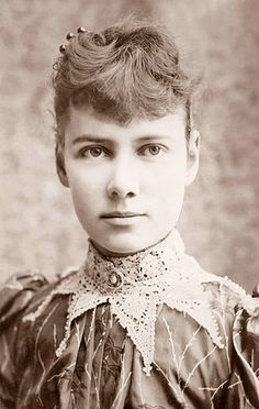 """Nellie Bly was a daring and influential investigative journalist who wrote groundbreaking stories about political corruption and poverty. She once faked madness in order to report undercover from an abusive mental institution in New York City, which led to outcry and reform. Her jealous peers referred to her investigations as """"stunt reporting"""", but Nellie, of course, didn't give a fuck about those whiny little shits.Oh, and she once travelled around the world in a record-breaking 72 days…"""