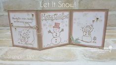Carussell Crafts: Heart of Christmas - Week 8 Snowman Images, Snowman Cards, Cute Snowman, Tri Fold Cards, Folded Cards, Christmas Time, Christmas Cards, Puff Paint, Stampin Up