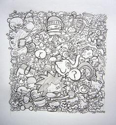 Weee doodlin' on a rainy day. w 2019 doodle Art Pop, Doodle Inspiration, Doodle Ideas, Doodle Art Drawing, Drawing Ideas, Doodle Characters, Deco Kids, Doodle Designs, Sharpie Designs