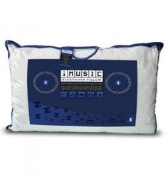 Bluetooth iMusic Pillow, which wirelessly plays music from your own bluetooth device through the speakers in the pillow. Princess And The Pea, Pillows Online, How To Get Sleep, Listening To You, My Music, Audio Books, Ipod, Bluetooth, Entertaining