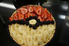 Pokemon fruit flan.