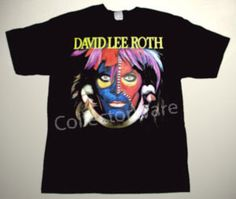 DAVID LEE ROTH Eat'Em and Smile CUSTOM ART UNIQUE T-SHIRT Each T-shirt is individually hand-painted, a true and unique work of art indeed!  To order this, or design your own custom T-shirt, please contact us at info@collectorware.com, or visit http://www.collectorware.com/tees-vanhalen_dlr.htm