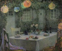 Henry LeSinader. This painting reminds me of Katherine Mansfield's story 'The Garden Party'