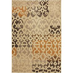 @Overstock - The large scale print and use of warm neutral tones are sure to fit just about any room in your home. Made to withstand heavy traffic, this rug is constructed with serged edges, stain and fade-resistant nylon and a plush pile.http://www.overstock.com/Home-Garden/Catalina-Ivory-Rug-8-x-10/6700641/product.html?CID=214117 $497.09
